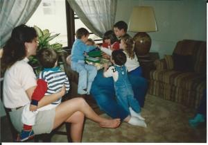 Papa and grandkids