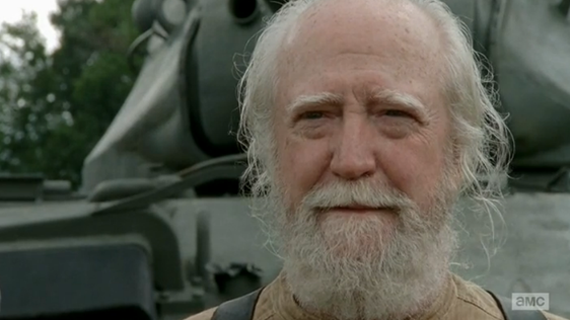 "I loved this subtle smile from Hershel: ""He gets it."""