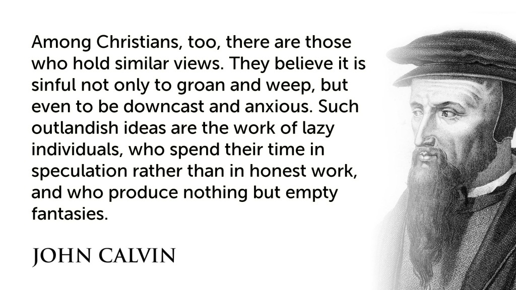 John Calvin antidepression Christians
